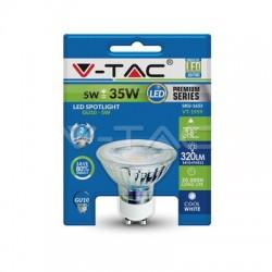 Lampadina LED faretto 5W GU10 Vetro con lenti Bianco caldo Blister